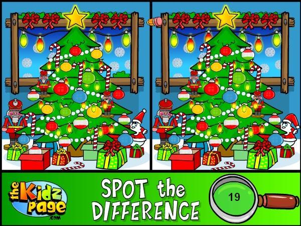 Christmas Spot the Difference Games